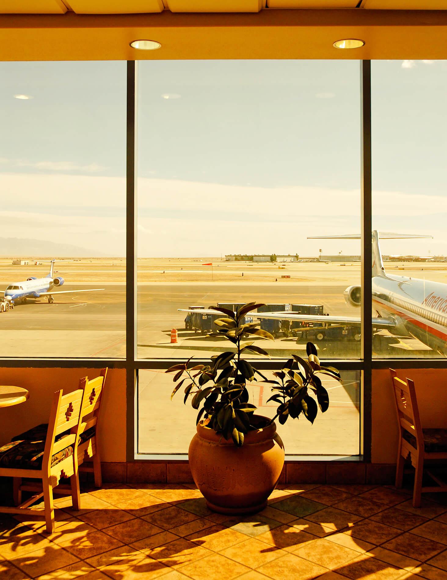 Albuquerque airport tarmac view