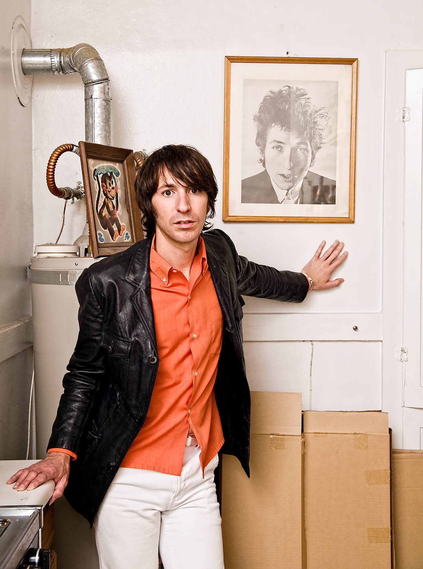 Bart Davenport with Bob Dylan portrait