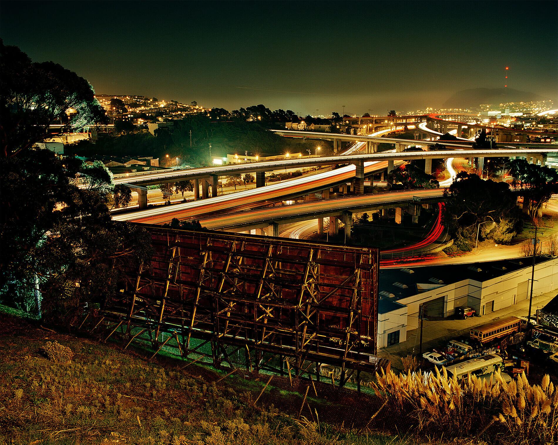 Billboard in San Francisco at night