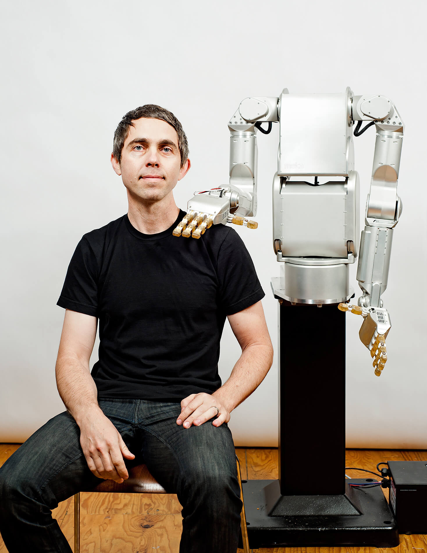 Robot touching human