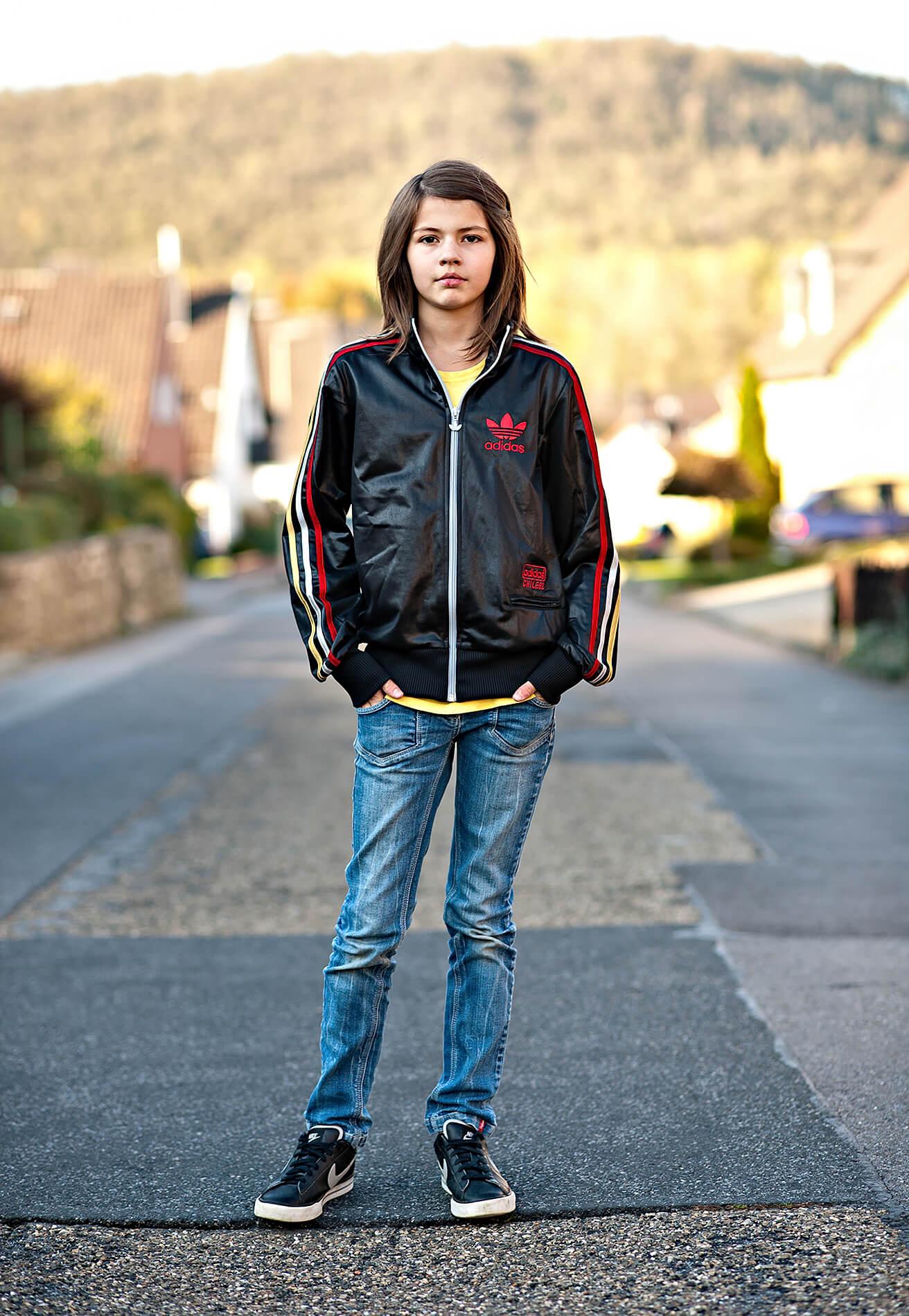 Suburban teen