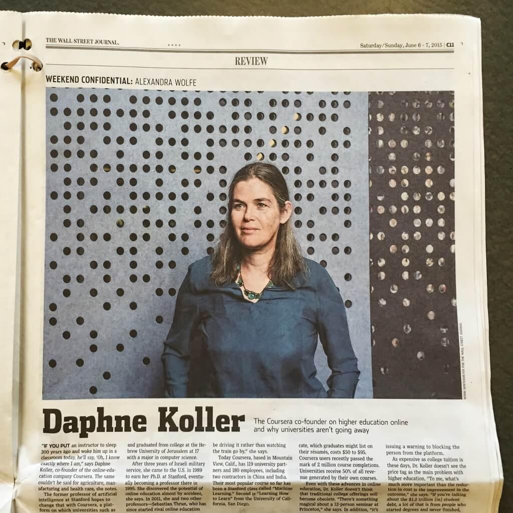 Daphne Koller for Wall Street Journal
