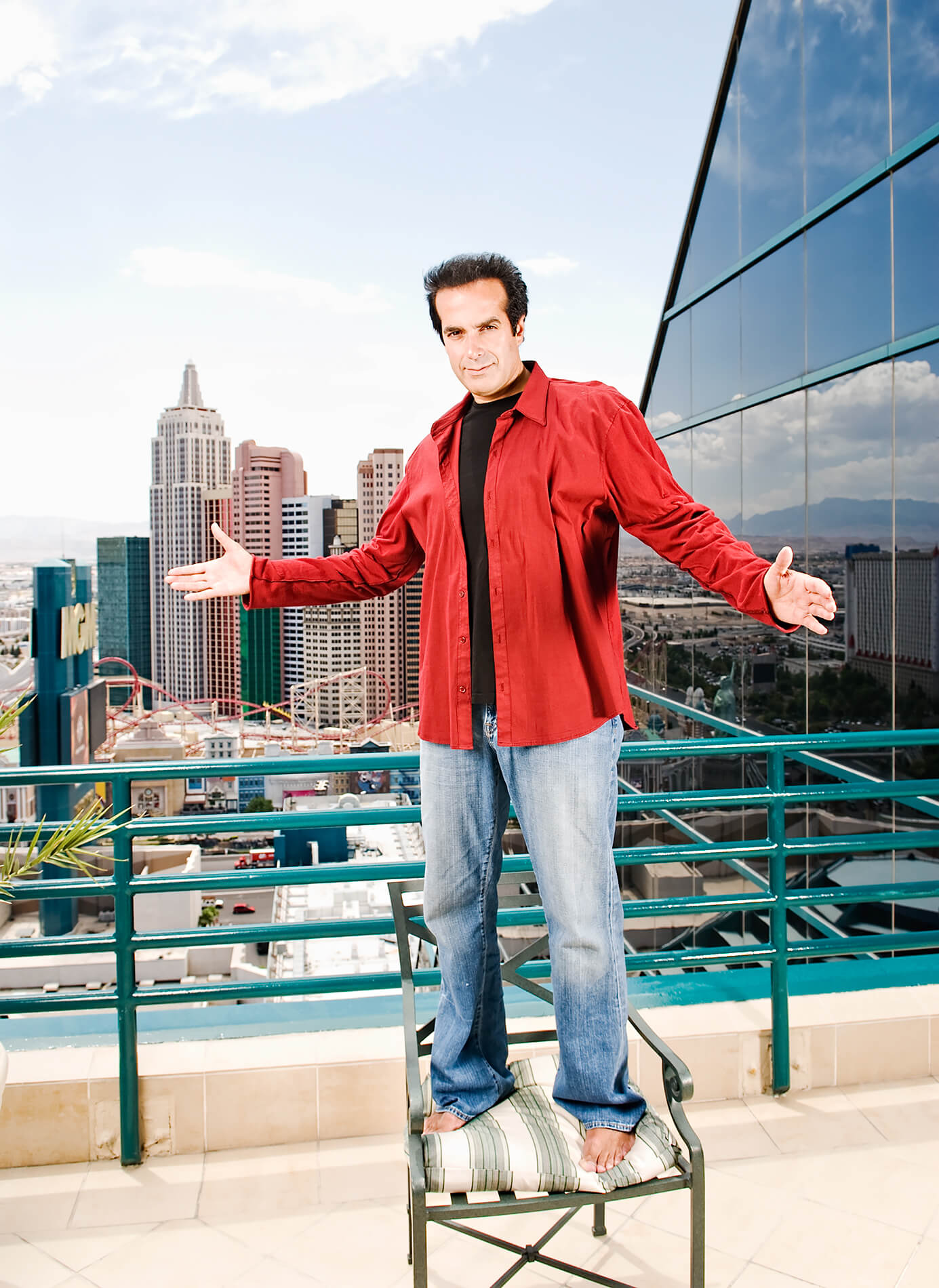 David Copperfield with Las Vegas skyline