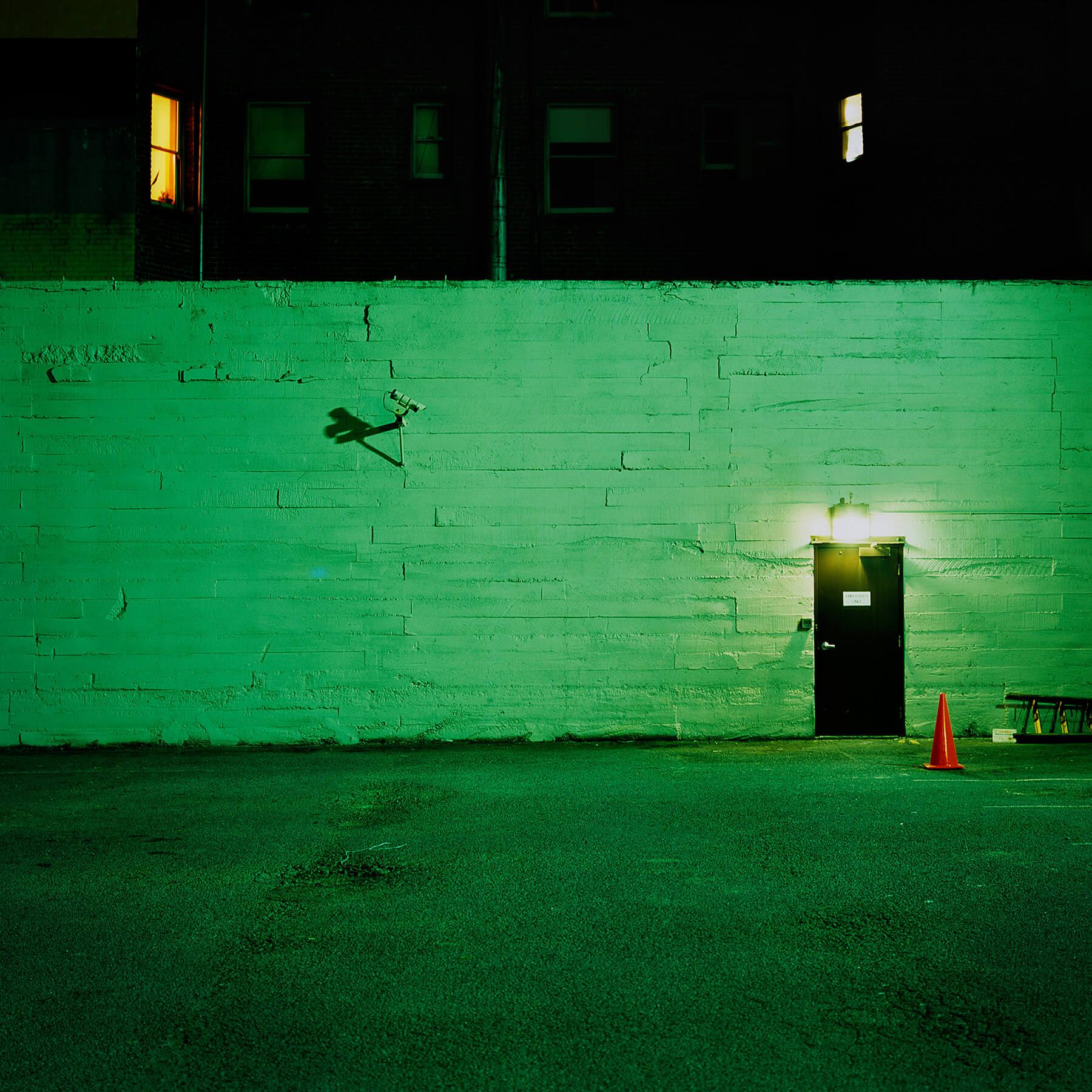Surveillance camera at night