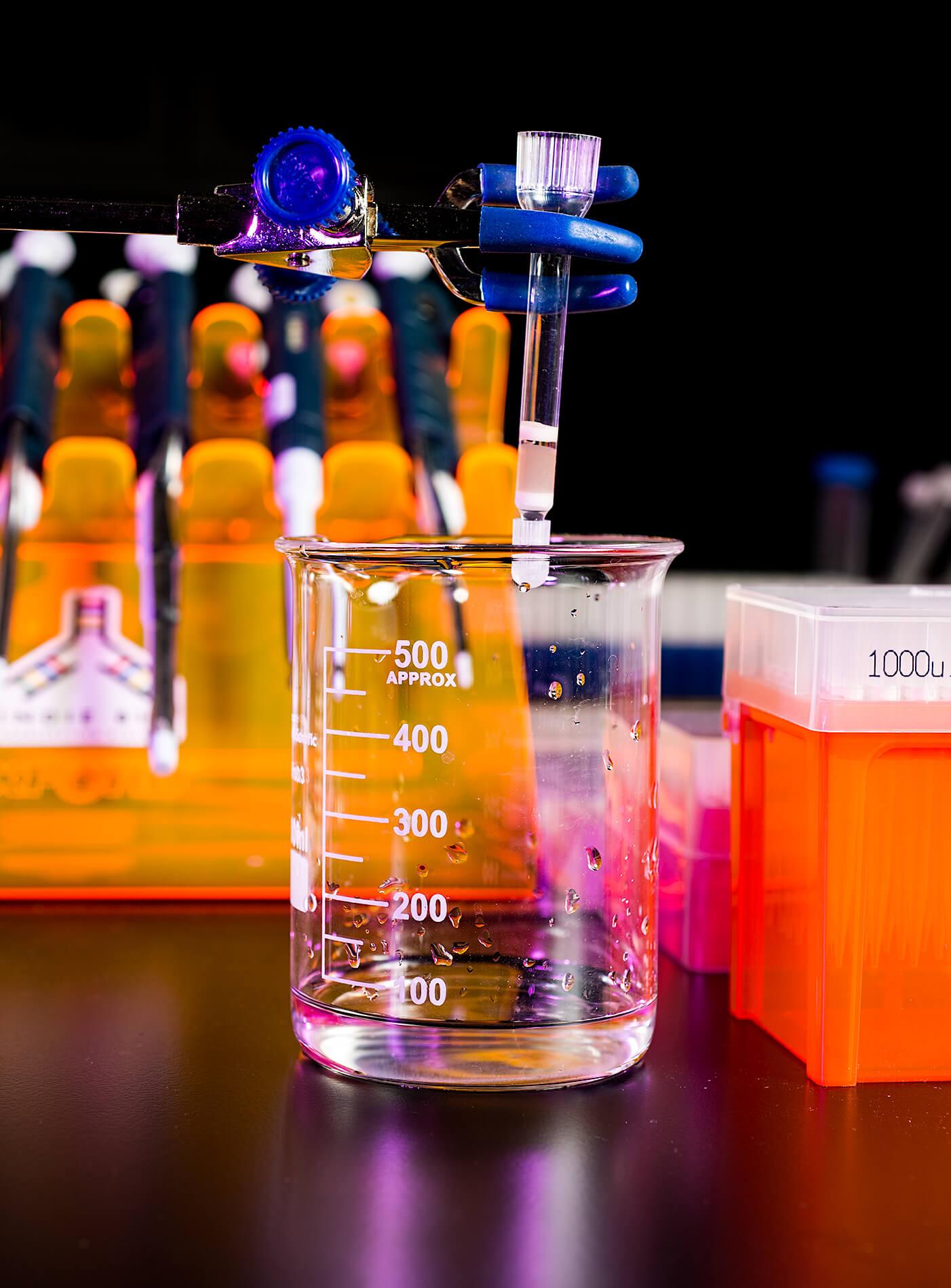Beaker and lab equipment