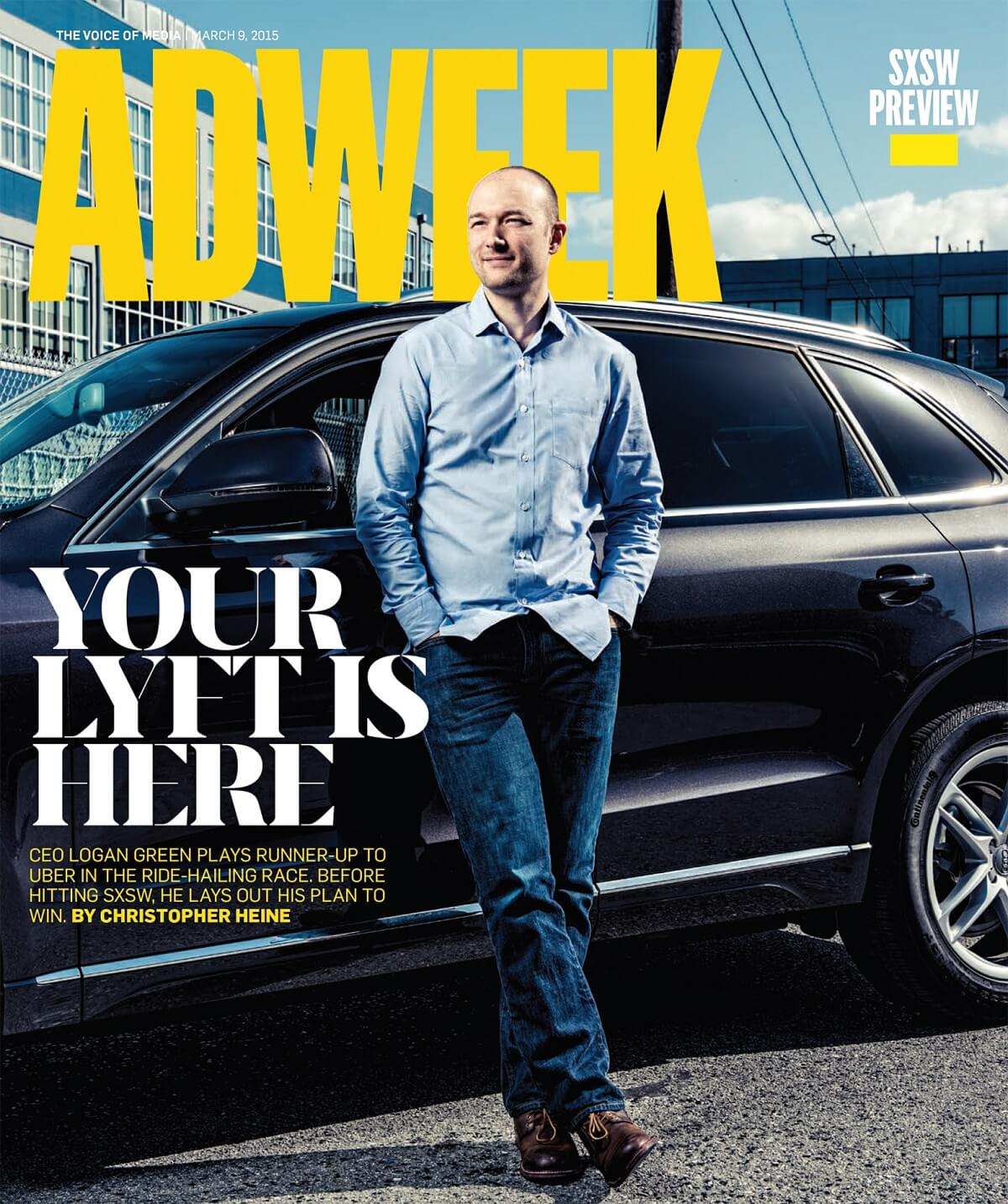 Adweek cover story about Logan Green of Lyft