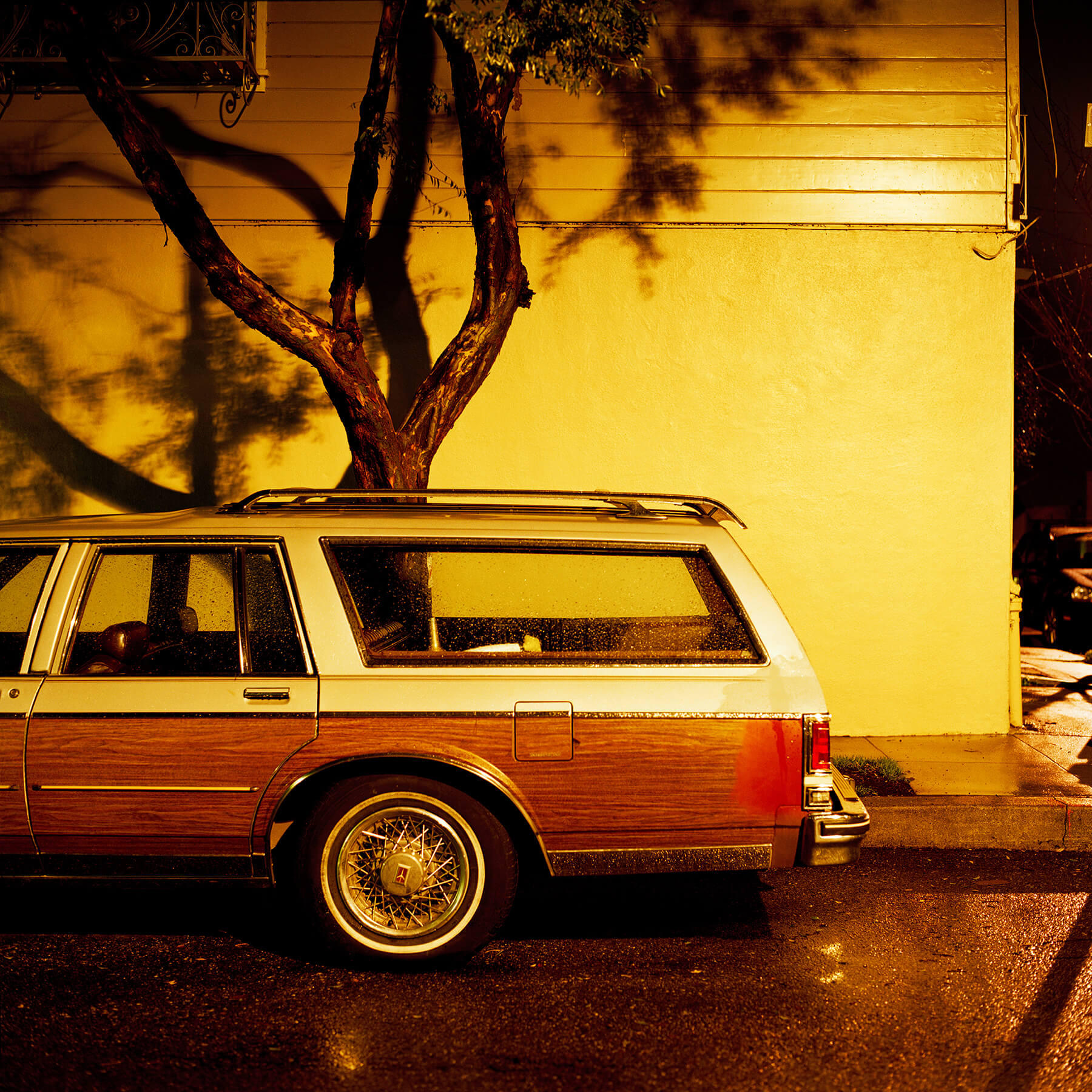 Station wagon at night, Bernal Heights, San Francisco