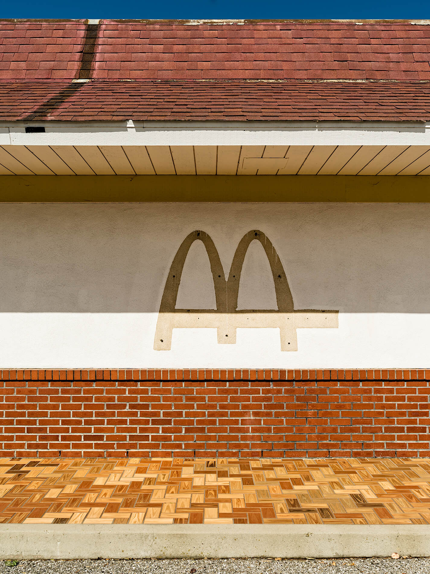 Outline of McDonald's sign at Moffett Field