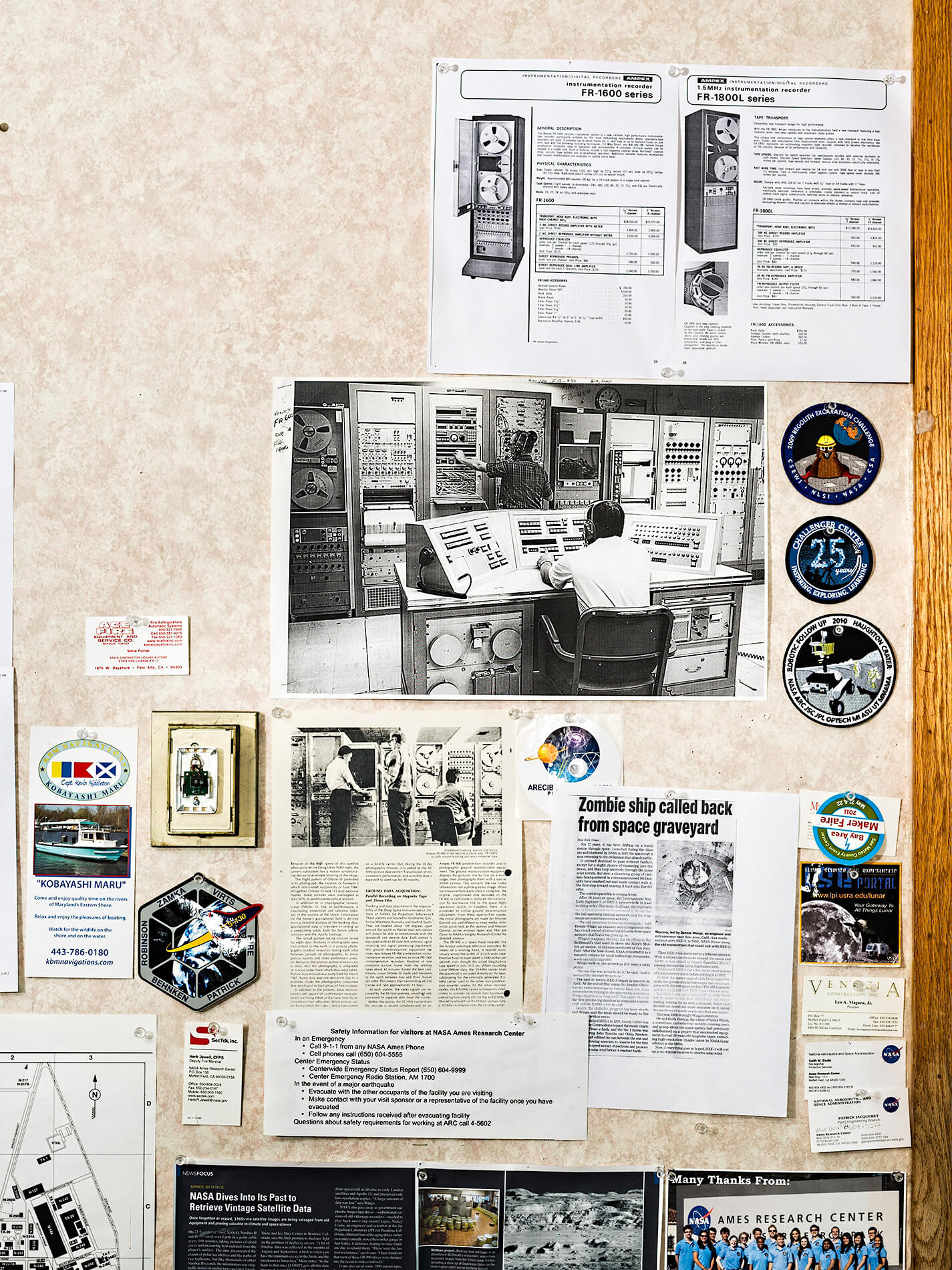 Space travel memorabilia and articles