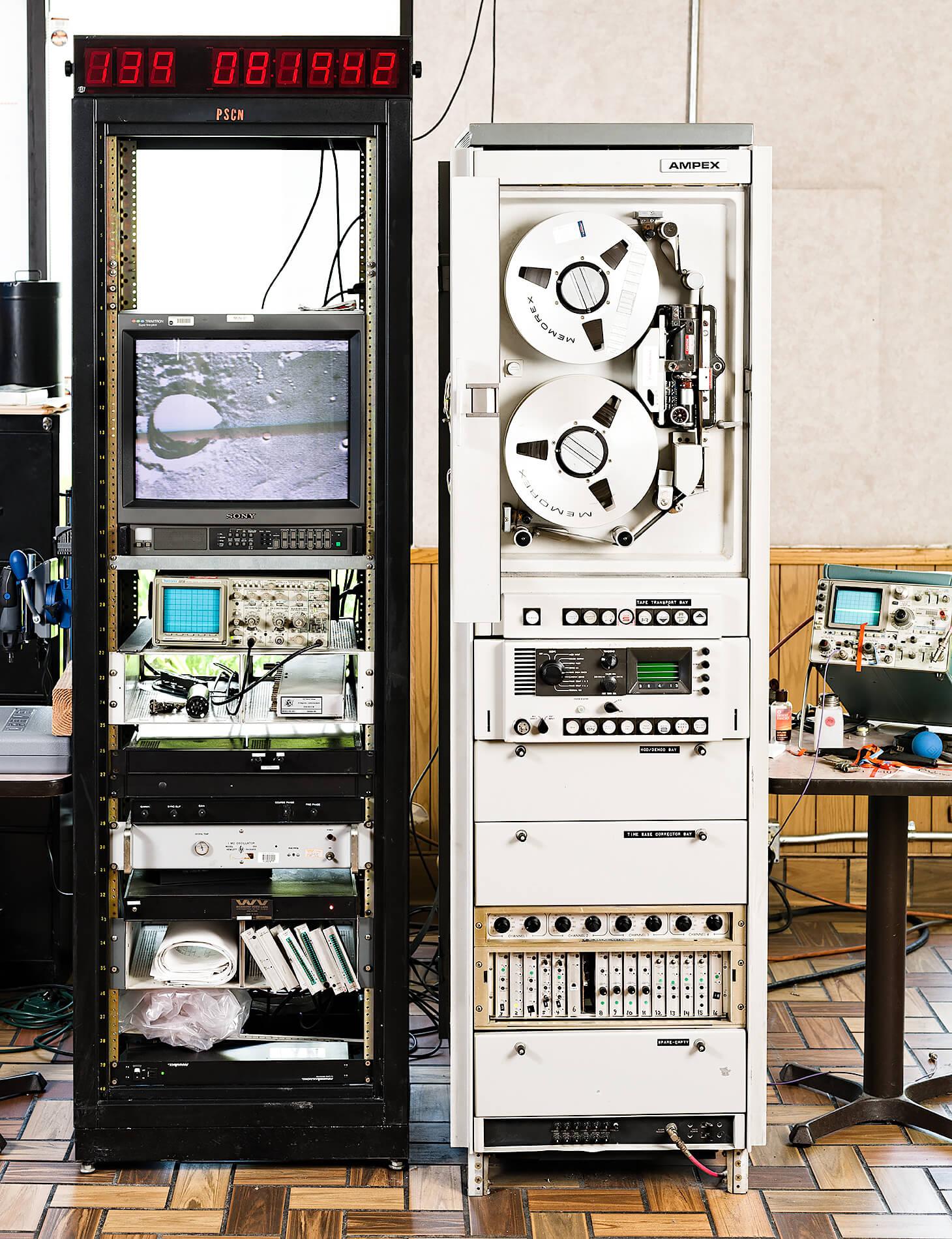 Hardware racks to digitize moon images
