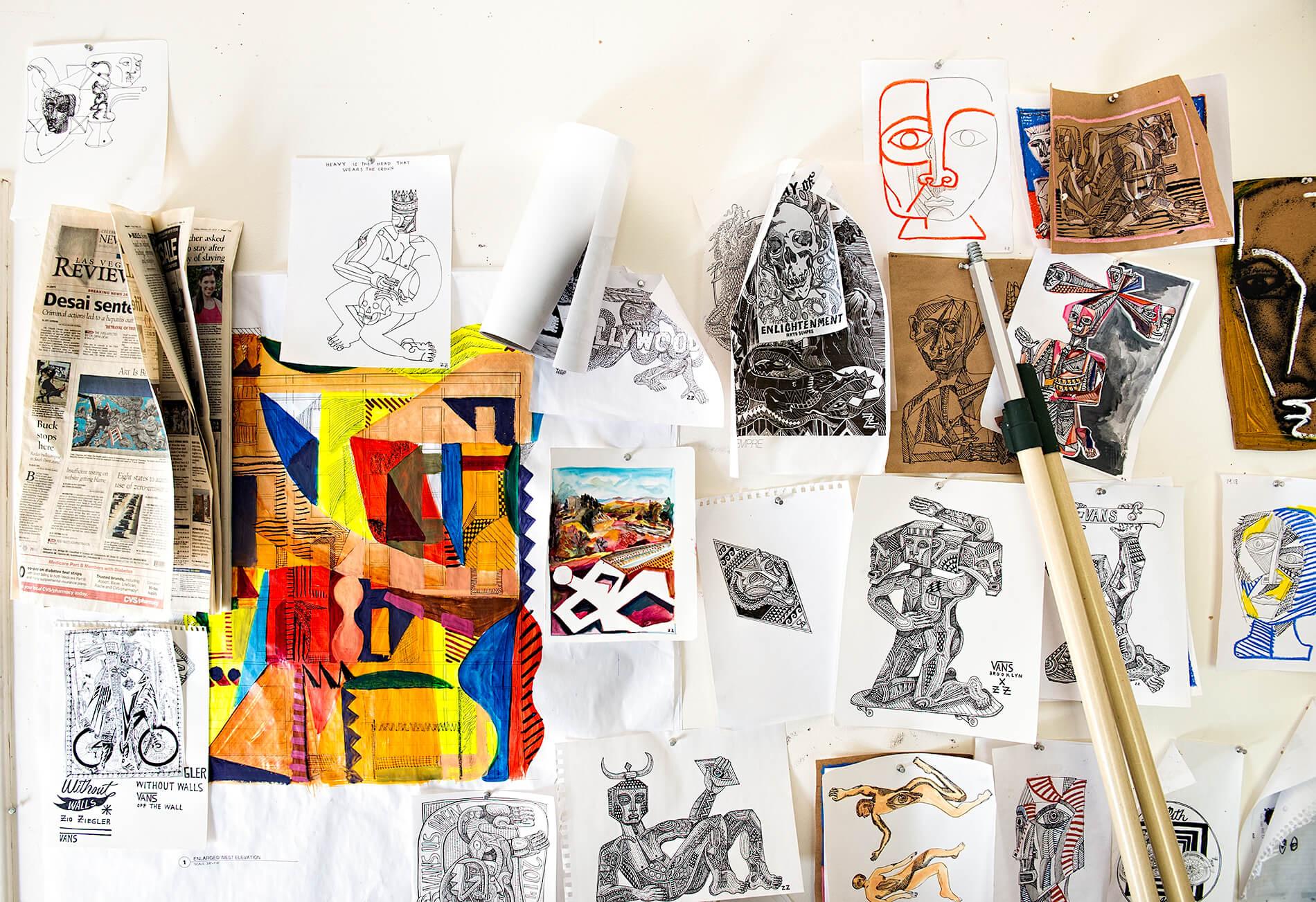 Zio Ziegler sketches