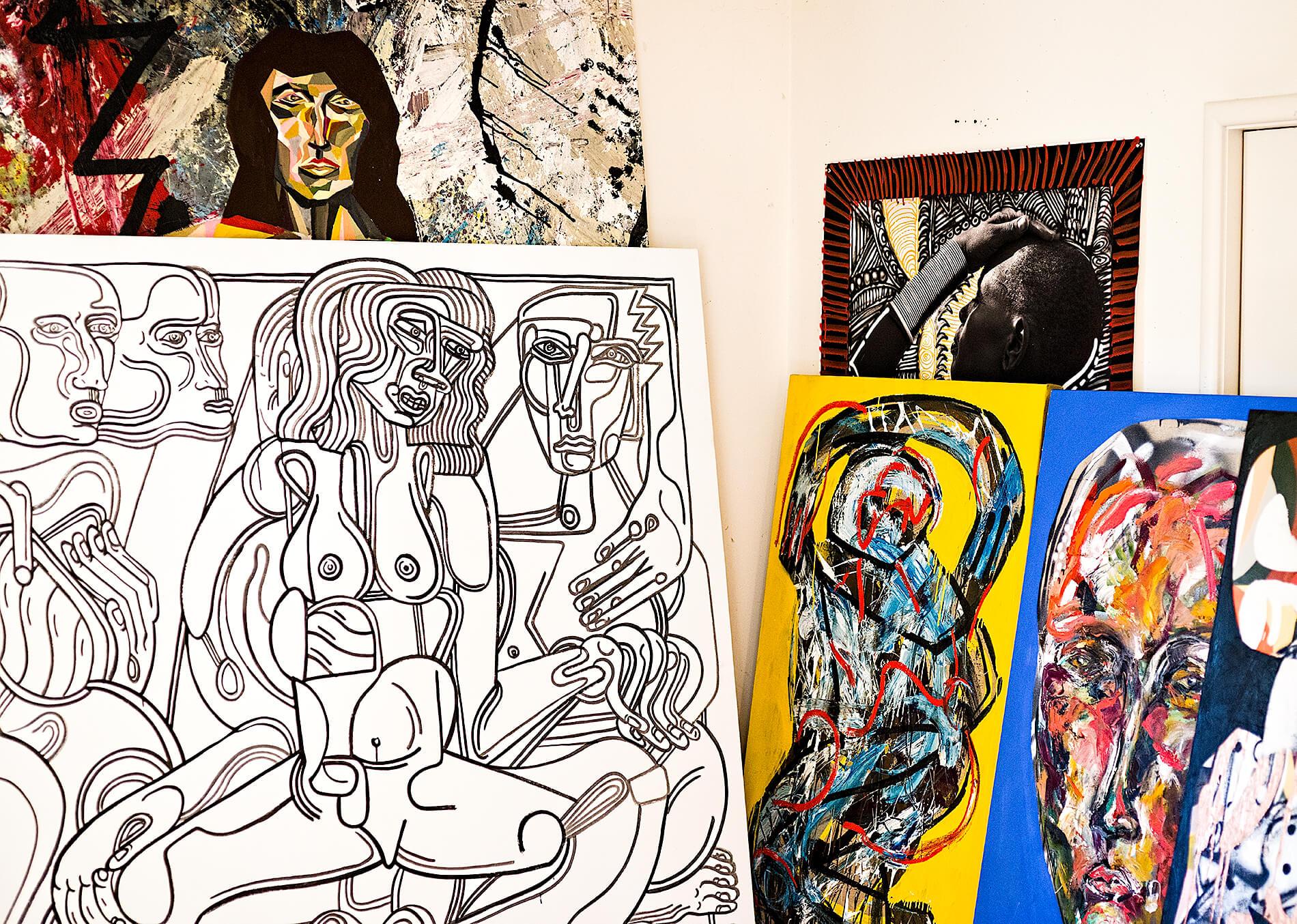 Zio Ziegler paintings