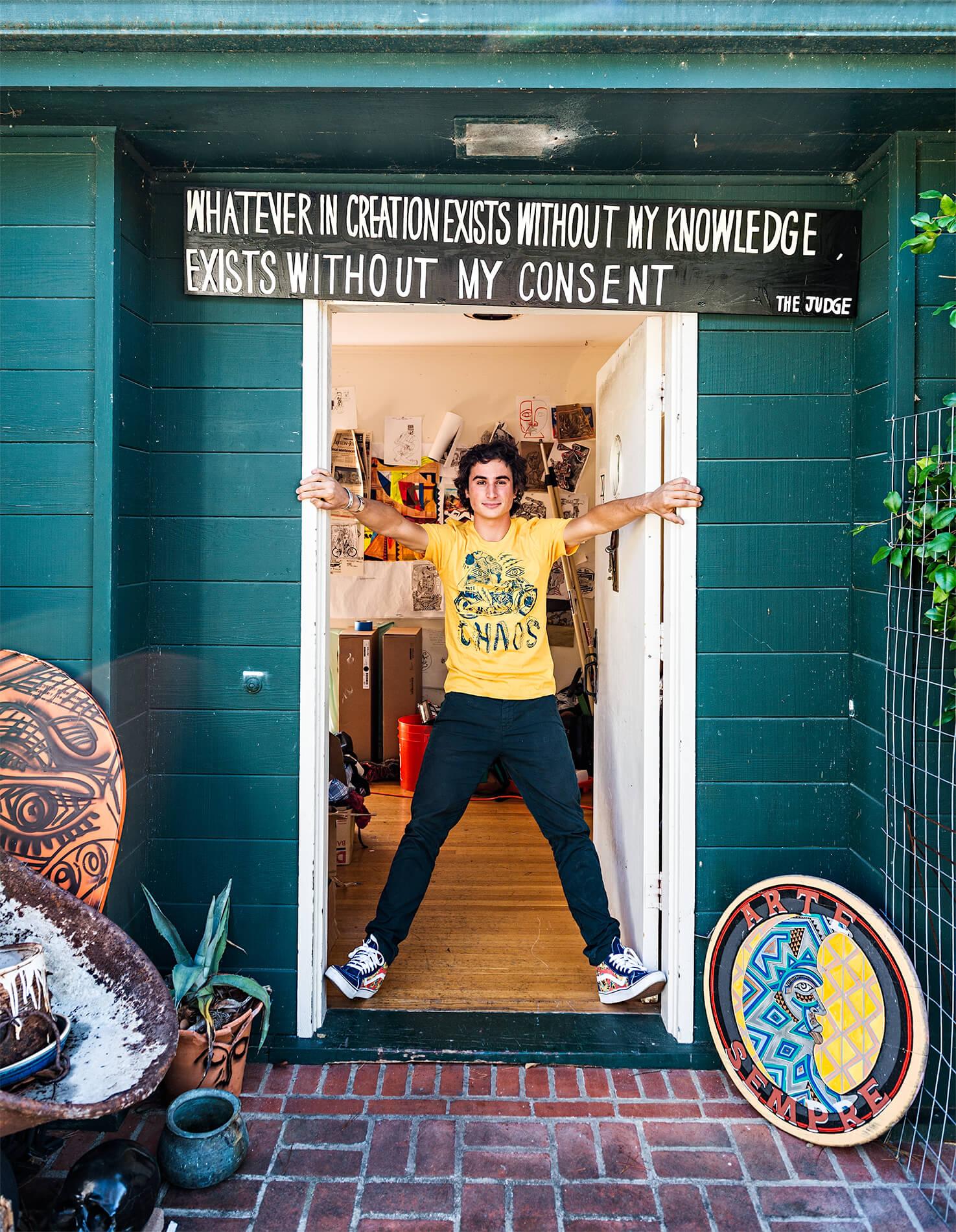 Zio Ziegler's studio entrance