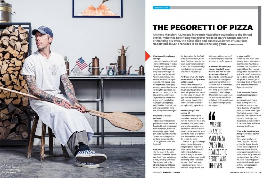 Anthony Mangieri article Bicycling magazine