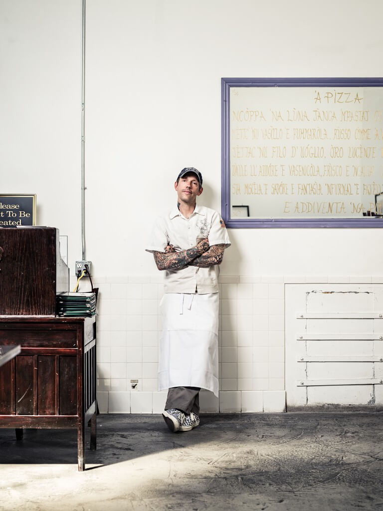 Portrait of Anthony Mangieri at Una Pizza Napoletana