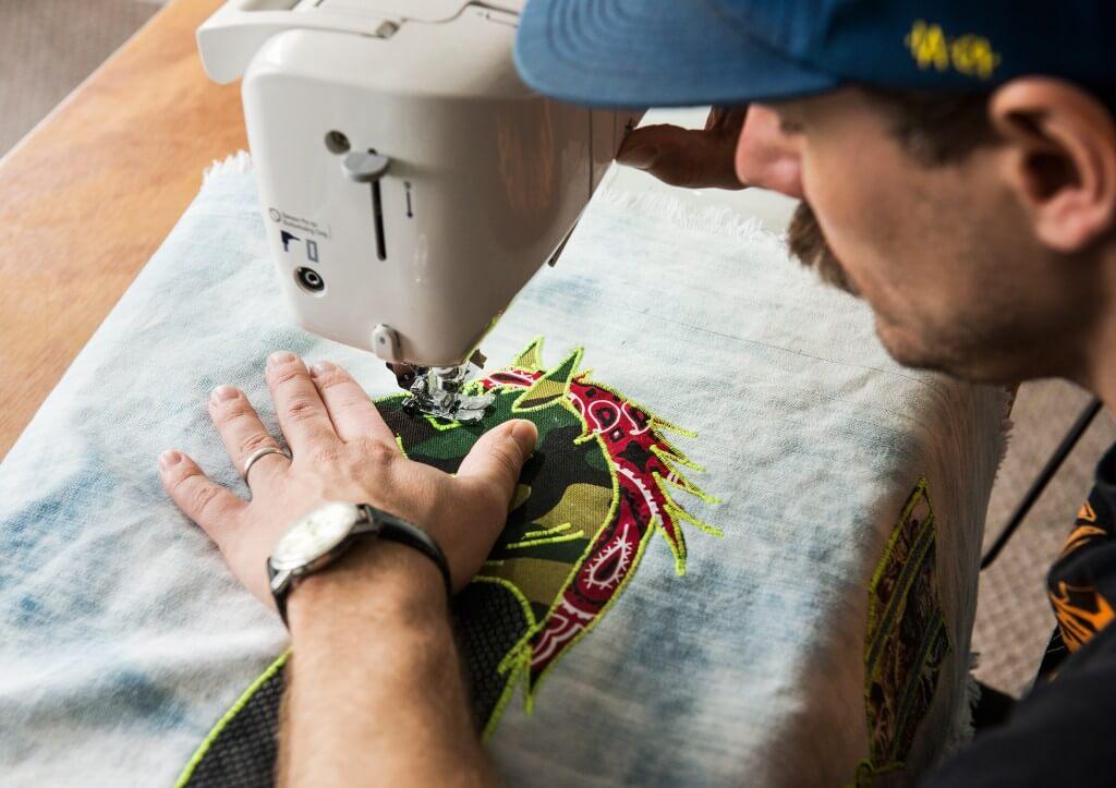 Ben Venom sewing