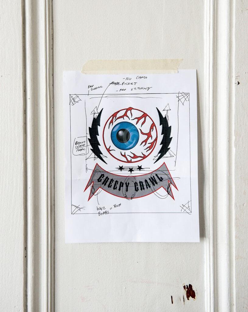 Sketch for a quilt by Ben Venom