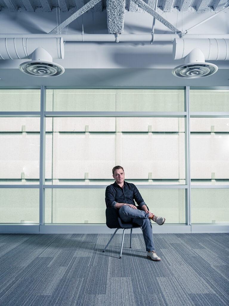 Slack CEO Stewart Butterfield at San Francisco office