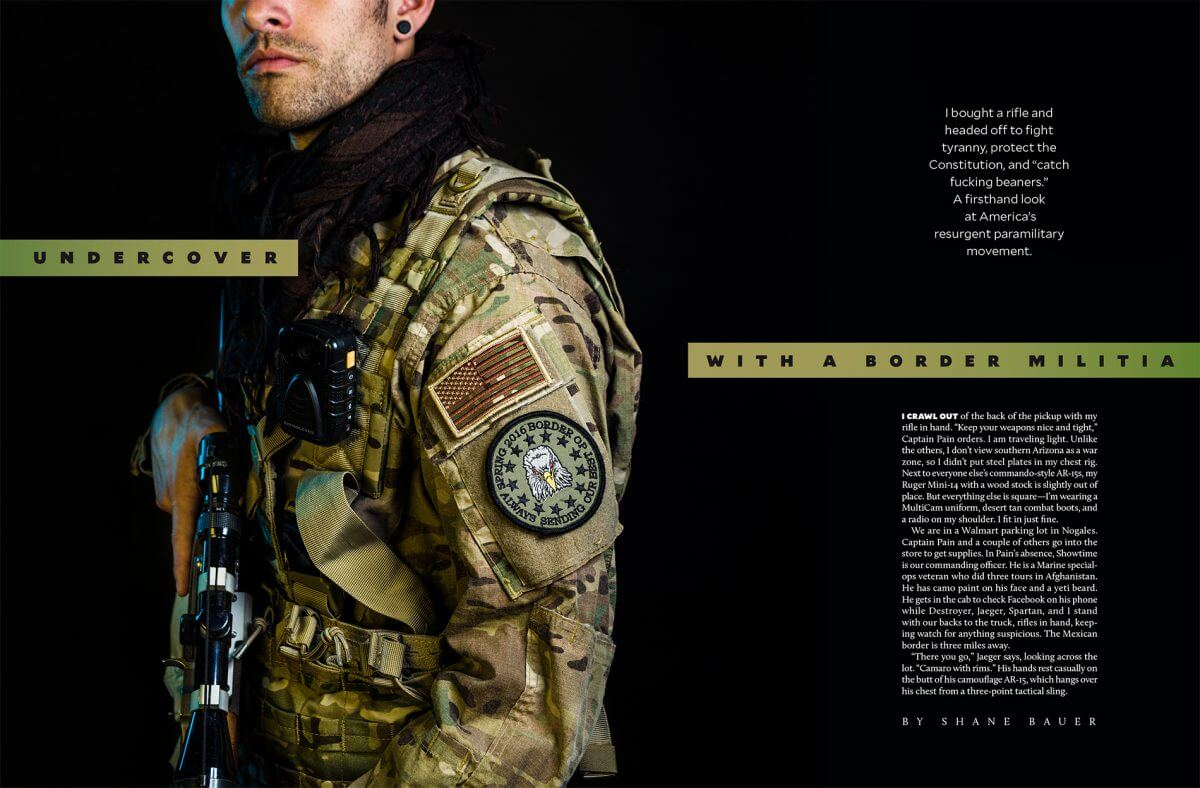 Mother Jones Magazine militia spread