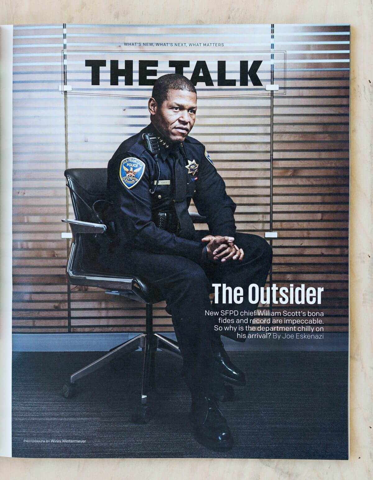 Police chief William Scott SFPD