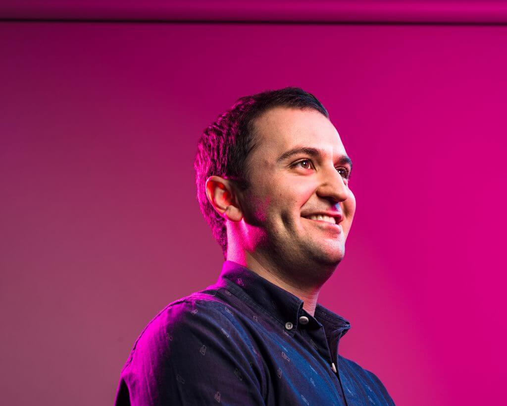 Portrait of Lyft founder John Zimmer.
