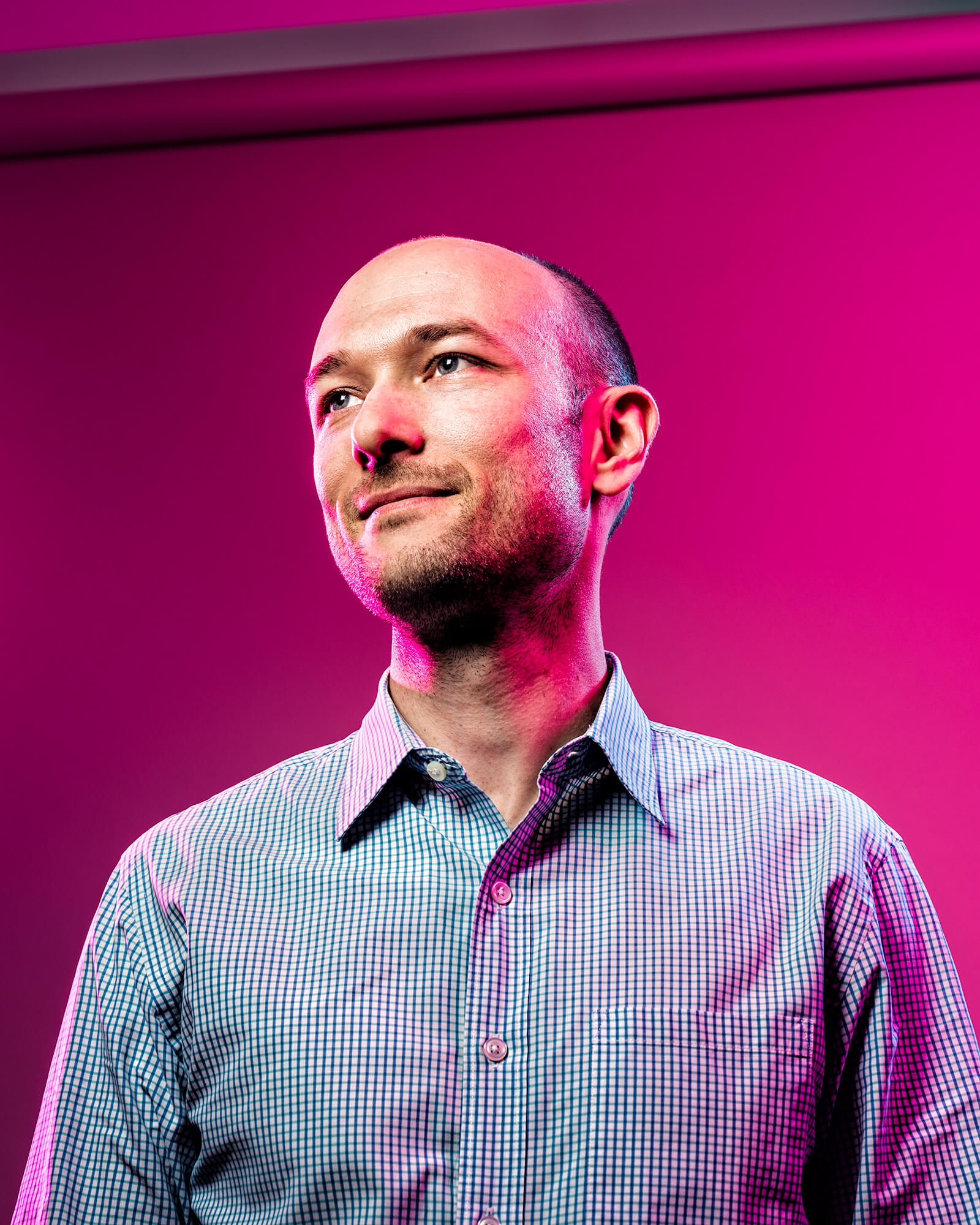 Portrait of Lyft founder Logan Green.