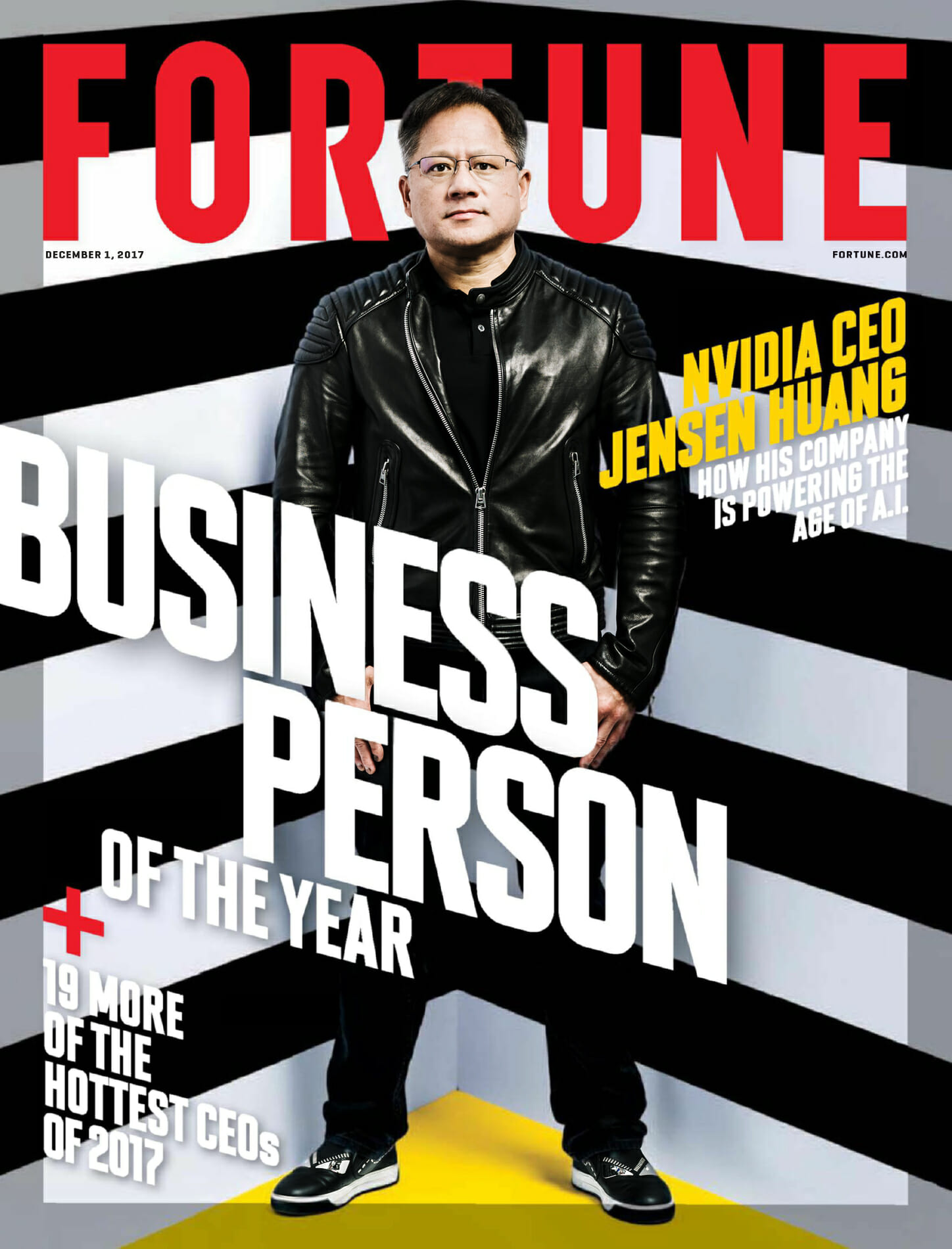 Jensen Huang of Nvidia on the cover of Fortune magazine