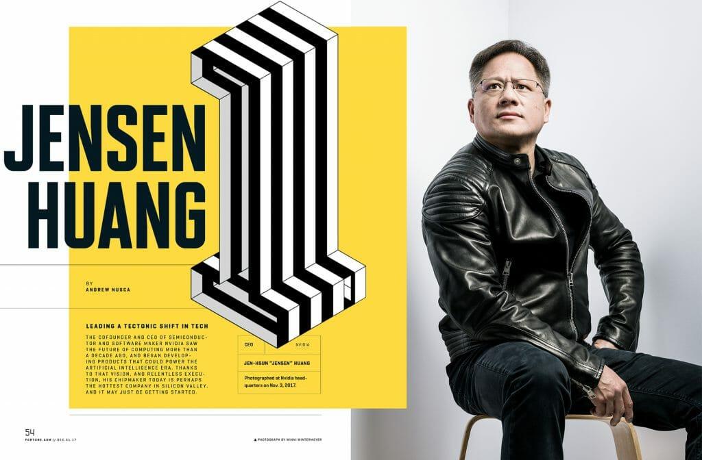 Portrait of Jensen Huang of Nvidia