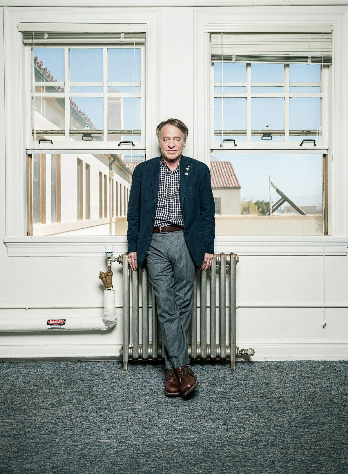 Portrait of futurist Ray Kurzweil at Singularity University.