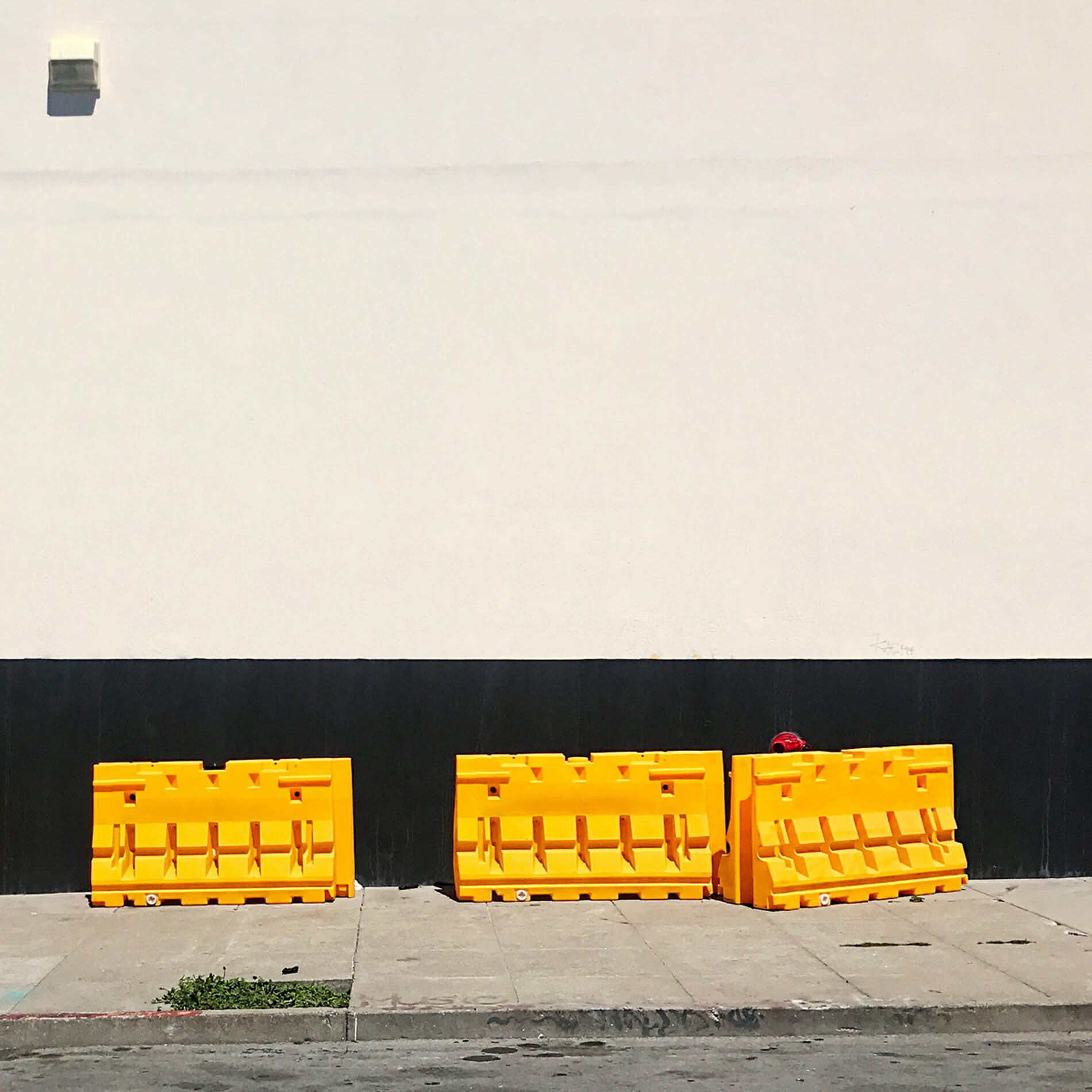 yellow flood barriers