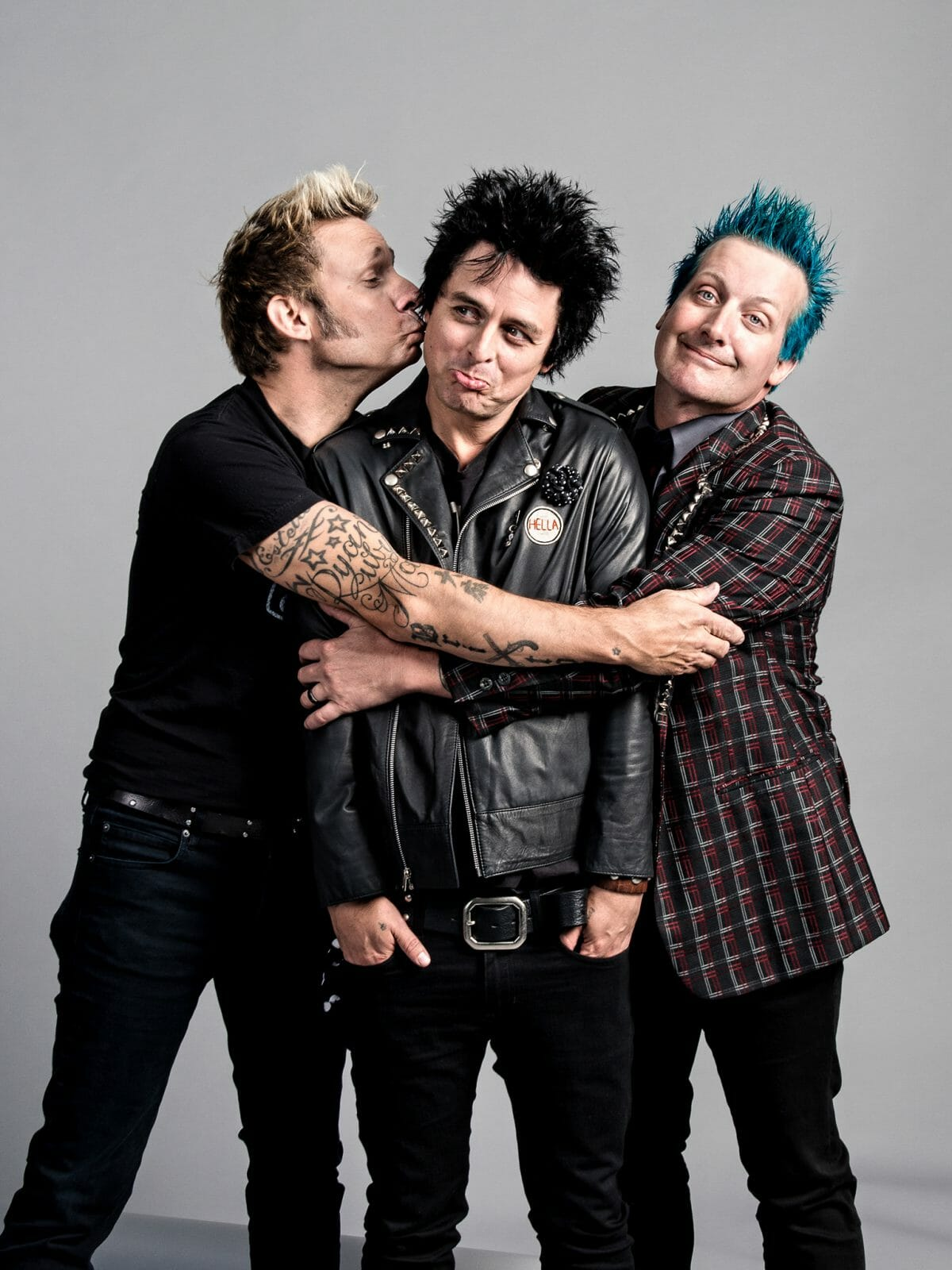 Portrait of band Green Day.