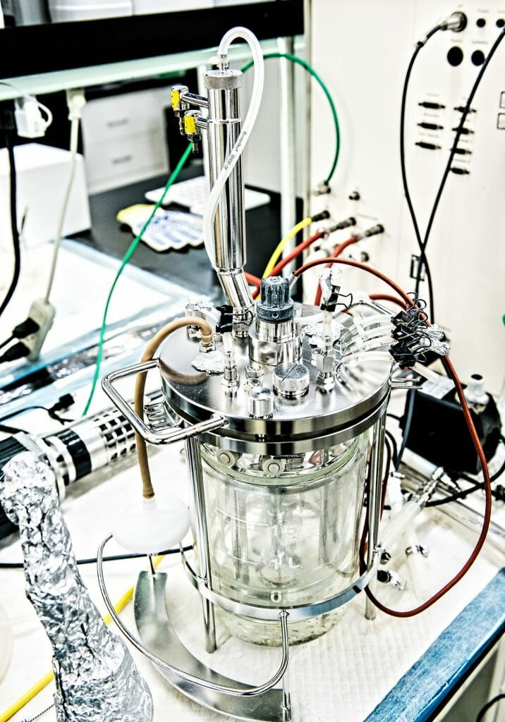Bio reactor in the lab at IndieBio