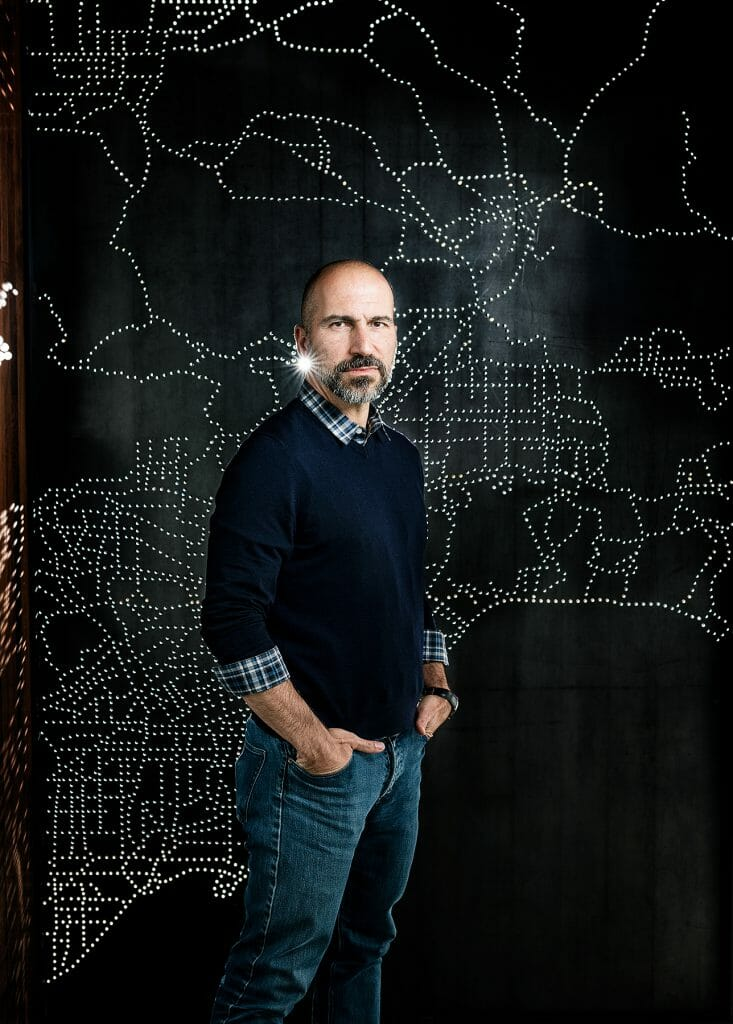 Portrait of Uber CEO Dara Khosrowshahi