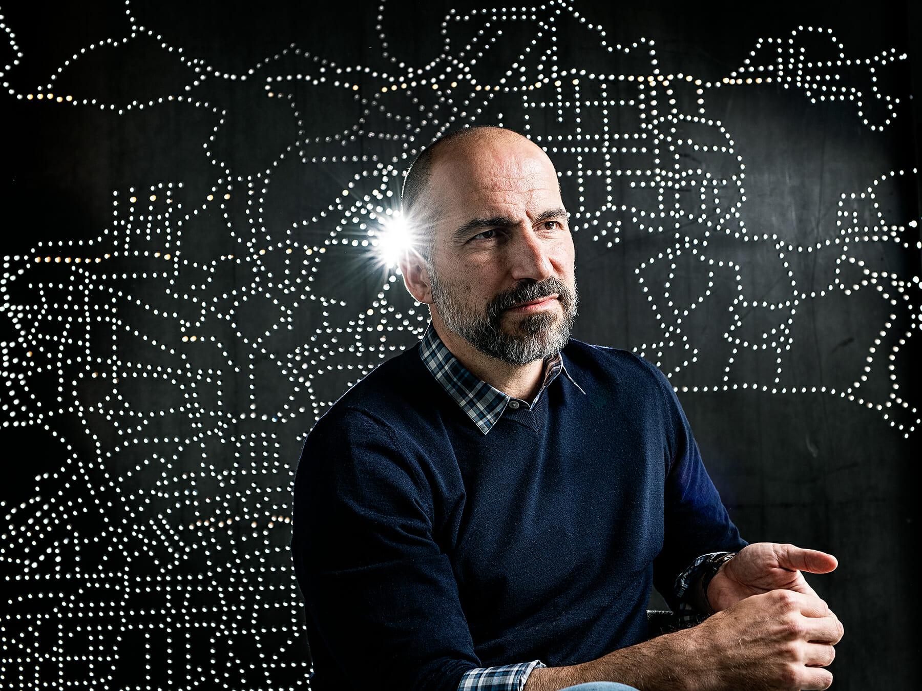 Portrait of Uber CEO Dara Khosrowshahi
