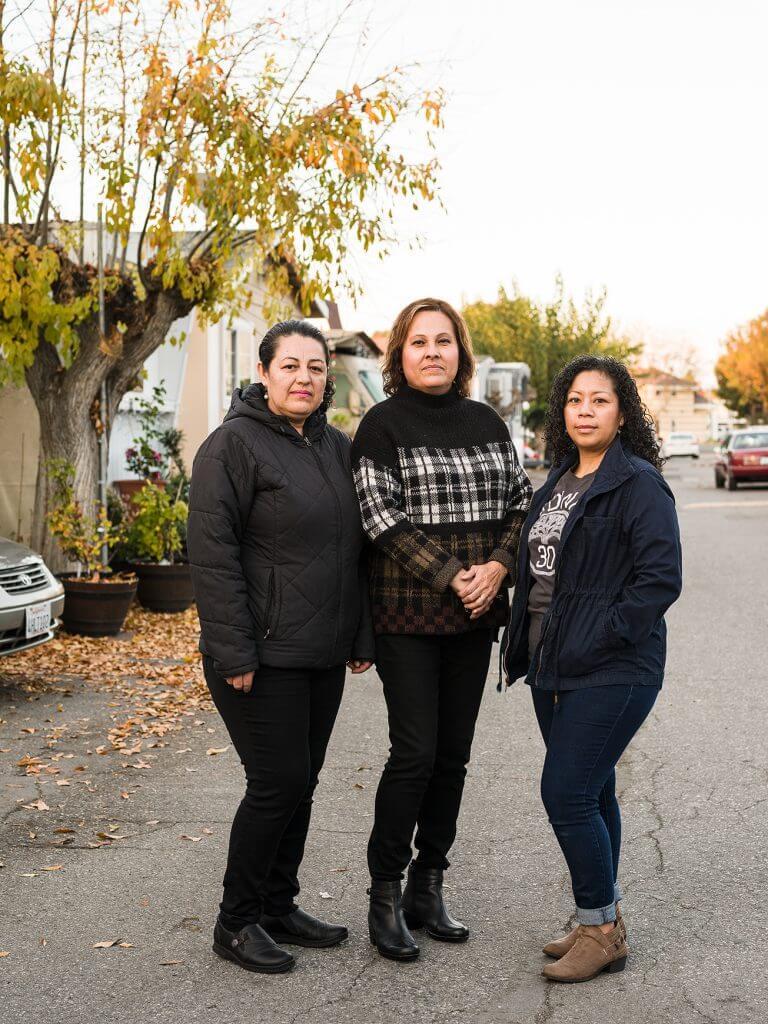 Board members of Buena Vista Mobile Home Park, Maria Martinez, Elisa Valencia & Sabrina Ramirez