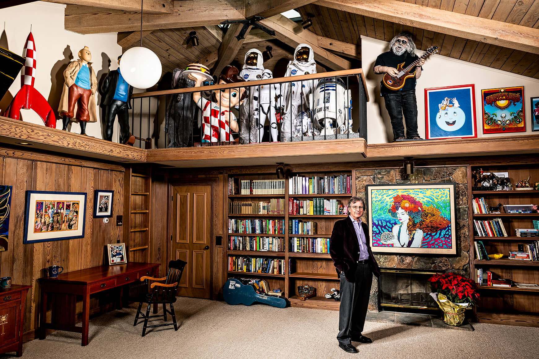 Roger McNamee at his home in Silicon Valley
