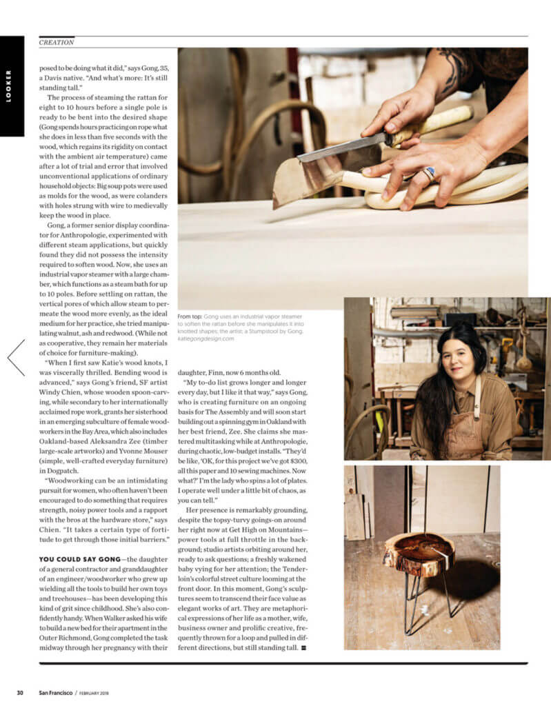 Katie Gong feature in San Francisco Magazine