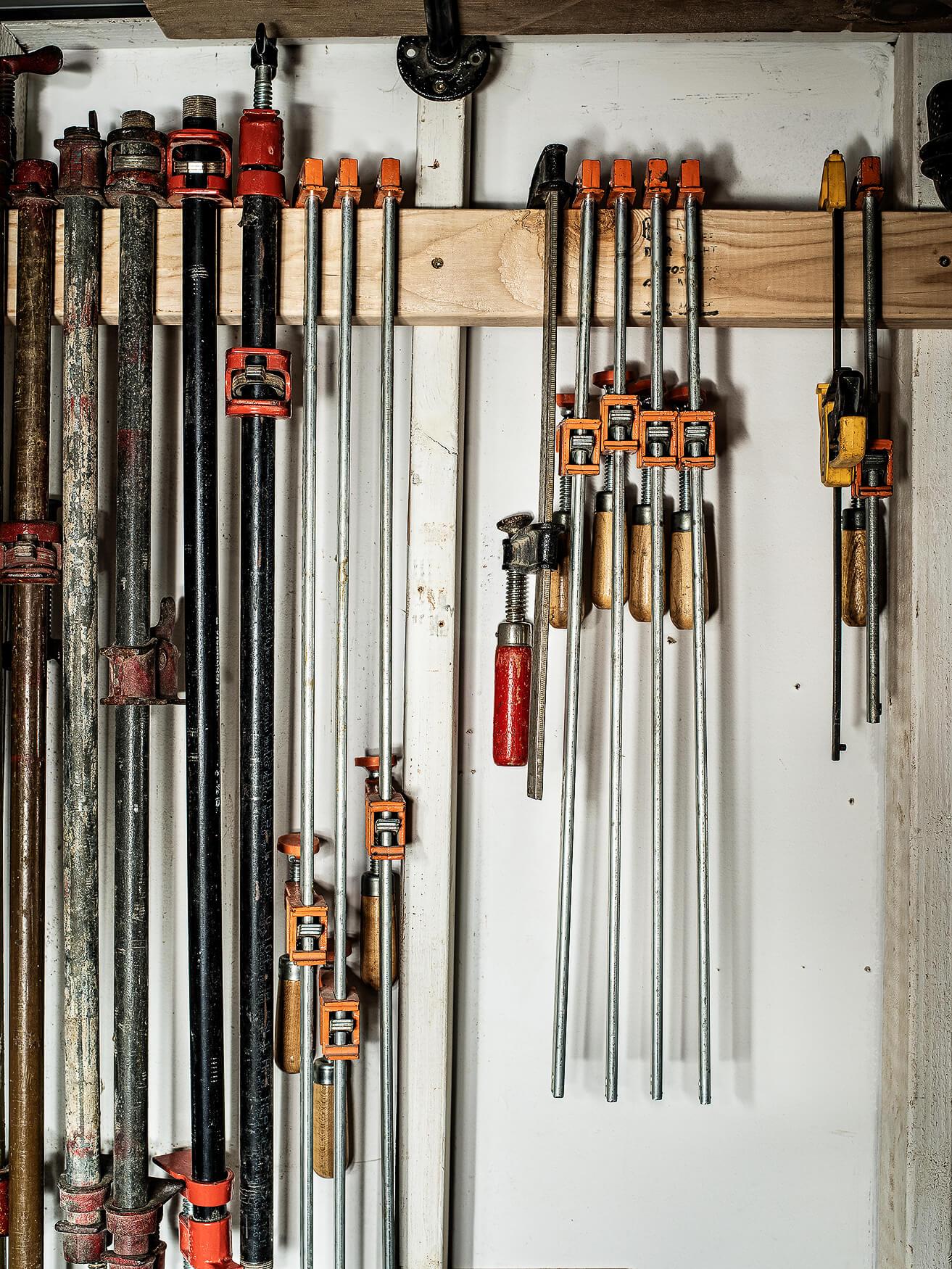 Tools in Katie Gong's studio