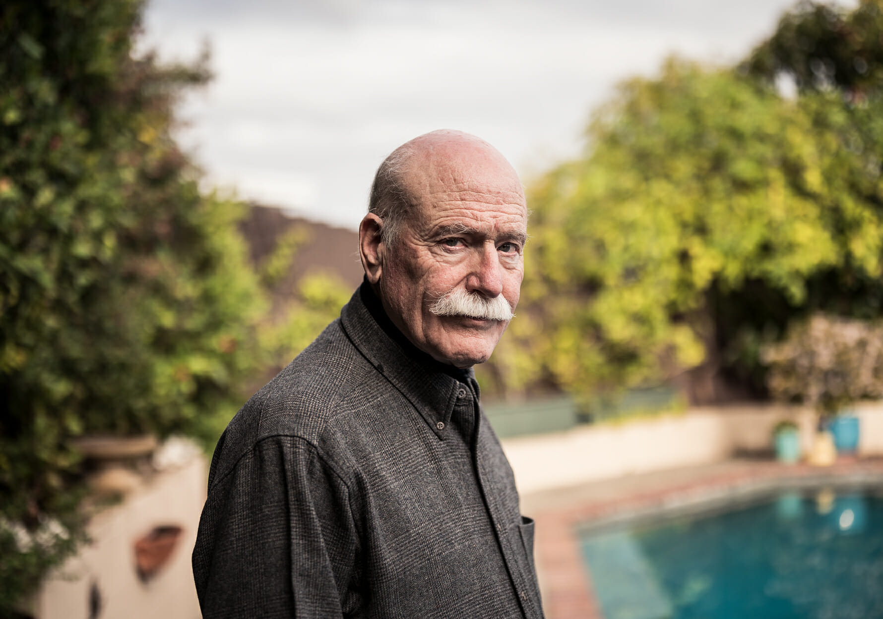 Author Tobias Wolff at his home in Stanford