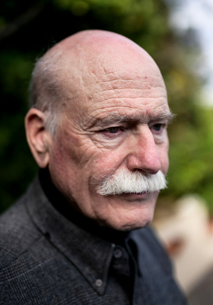 Portrait of author Tobias Wolff at his home in Stanford.