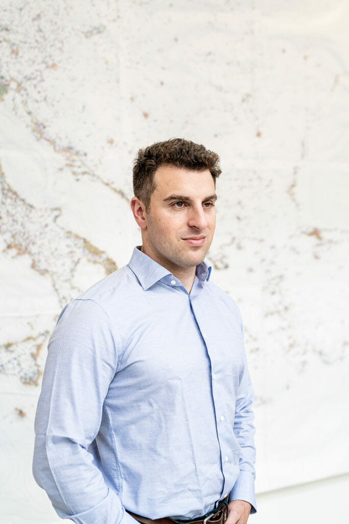 Portrait of Brian Chesky at Airbnb