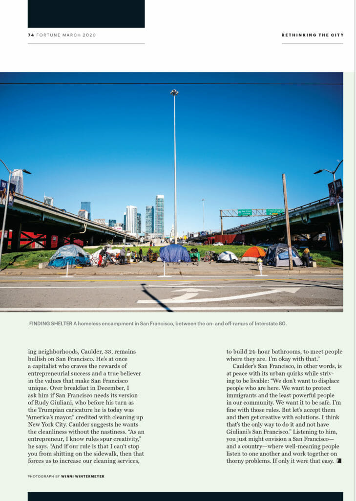 Fortune Magazine - Tents in San Francisco