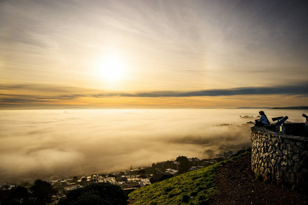 Morning fog over San Francisco