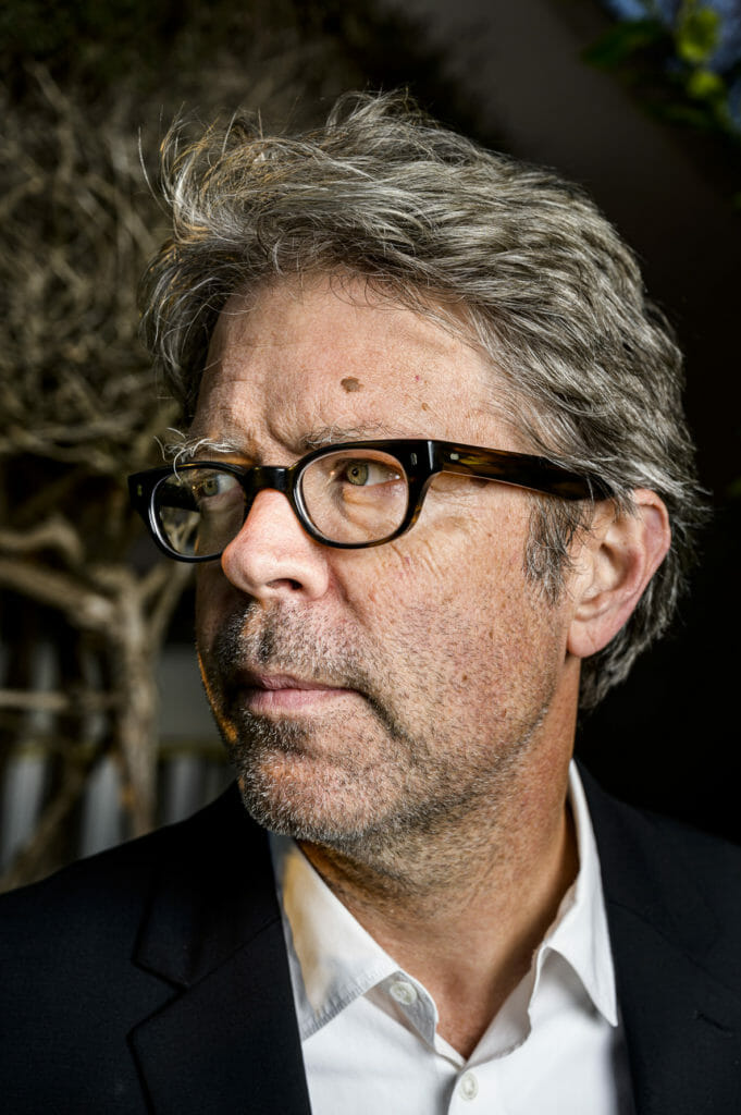 Writer Jonathan Franzen in Santa Cruz, California, USA.