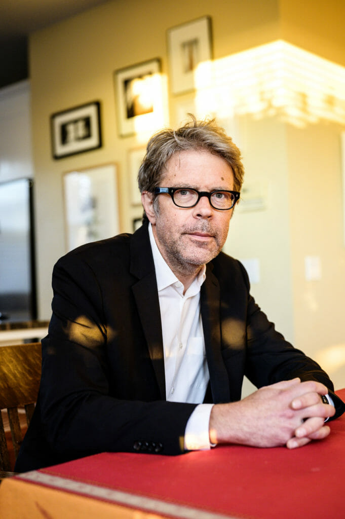 Writer Jonathan Franzen at his home in Santa Cruz, California, USA.
