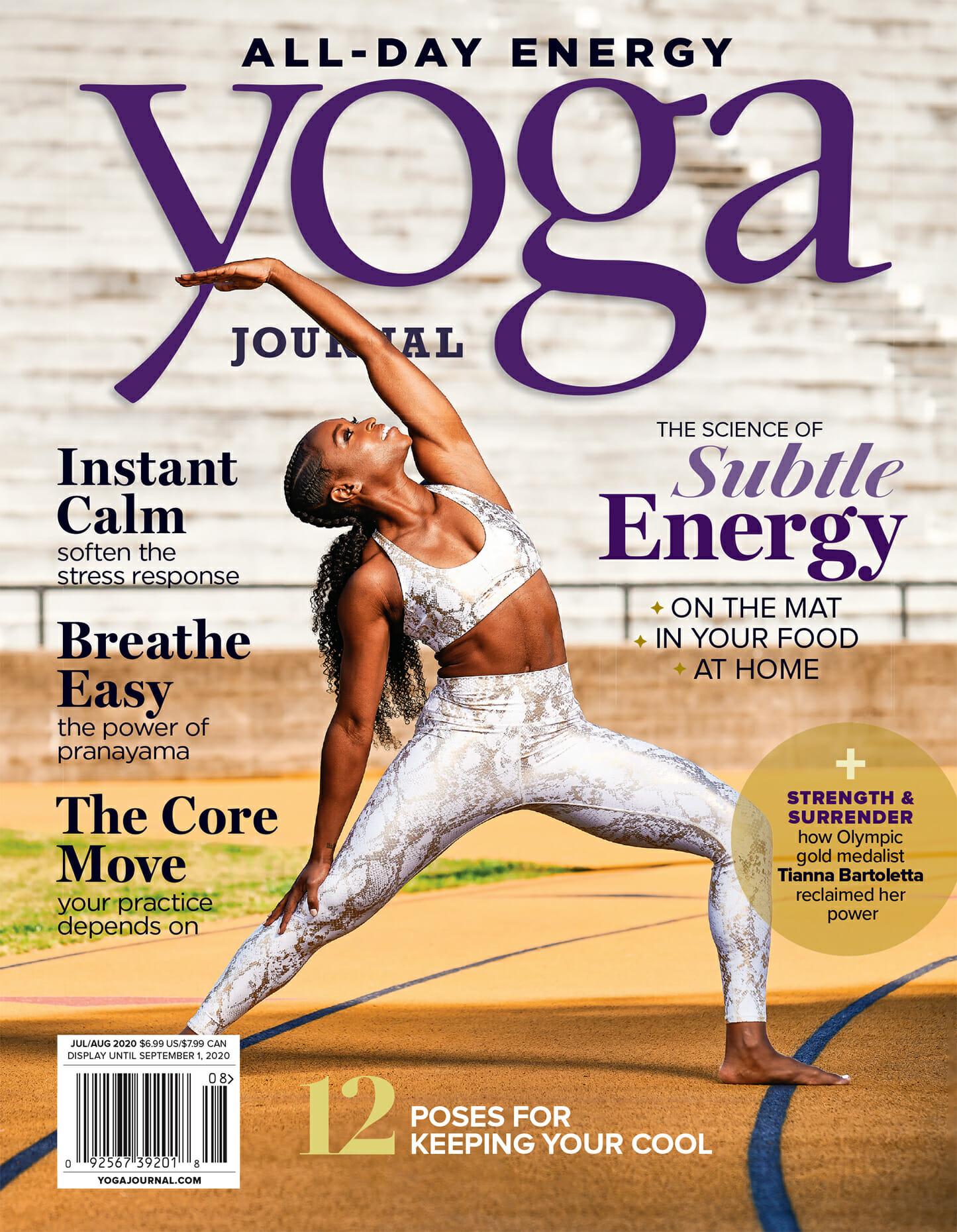 Tianna Bartoletta Yoga Journal magazine cover