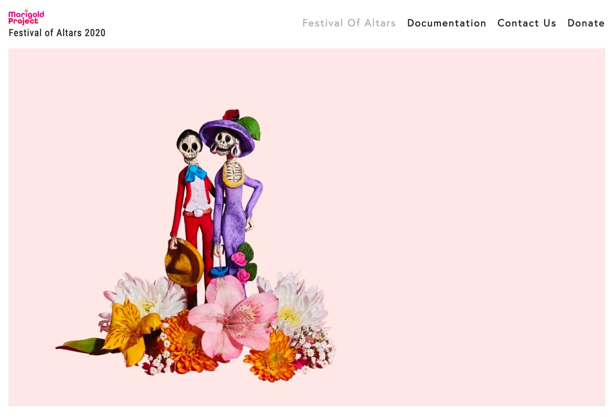 Marigold Project Festival of Altars 2020 website