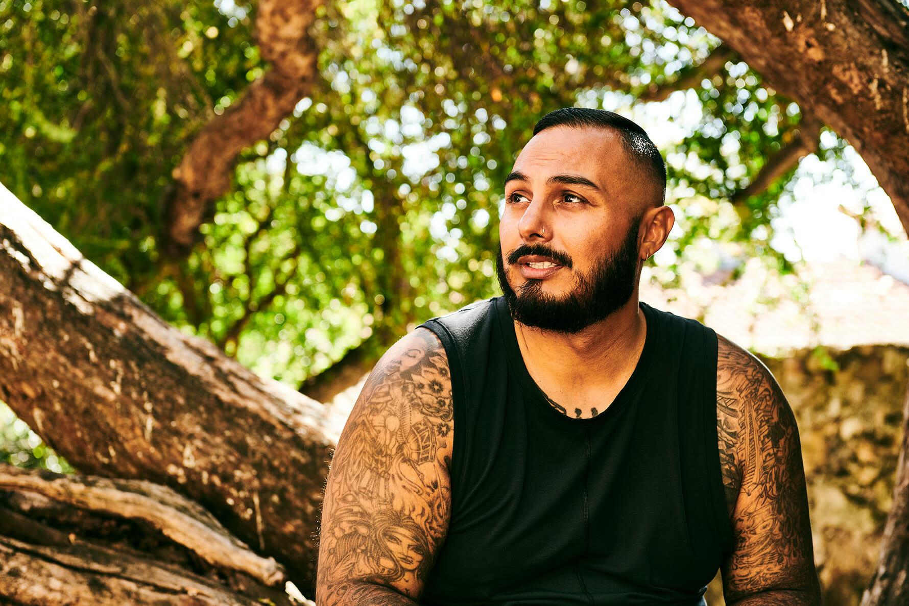 Portrait of yogi Steven Medeiros