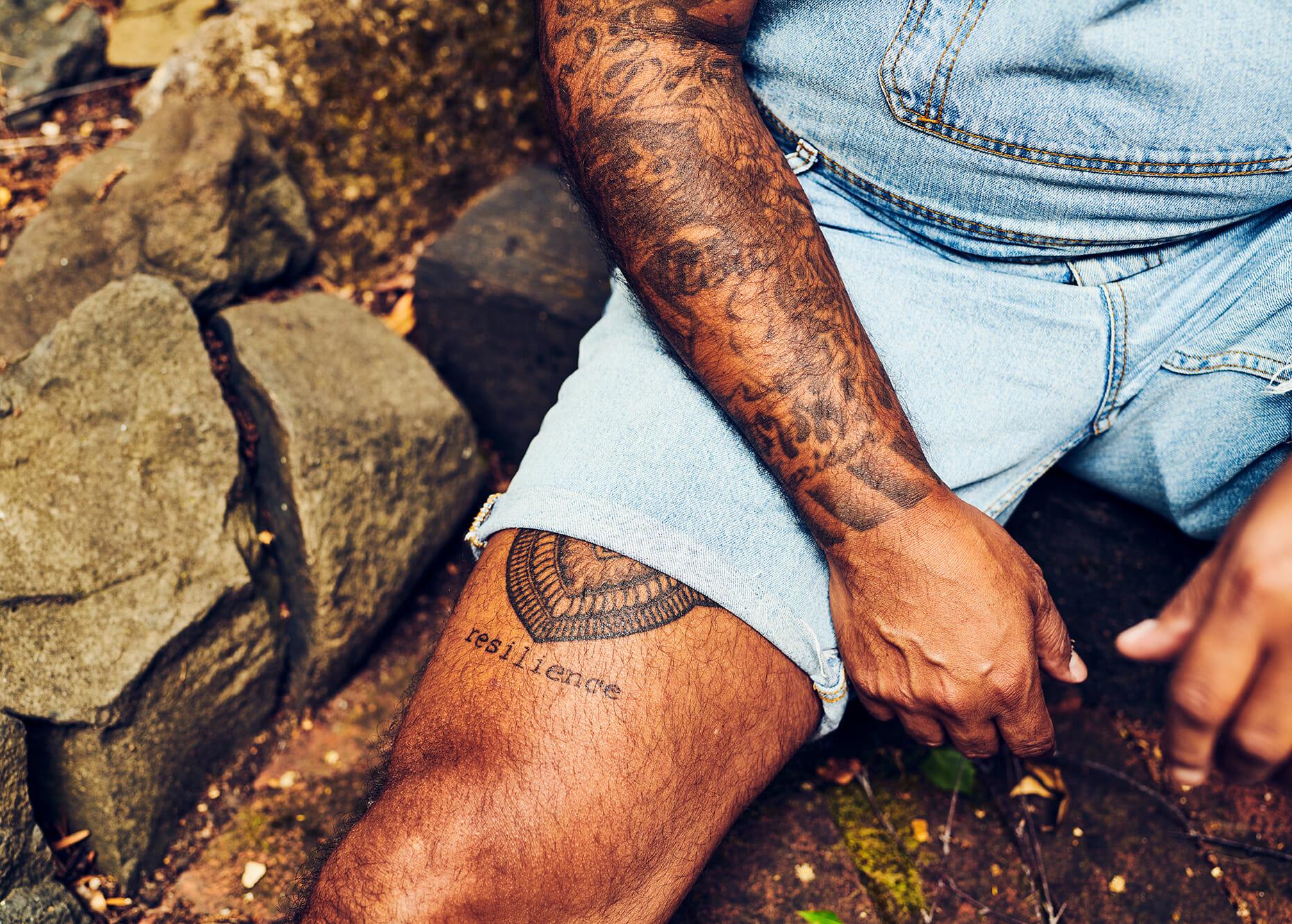 Steven Medeiro's Resilience tattoo